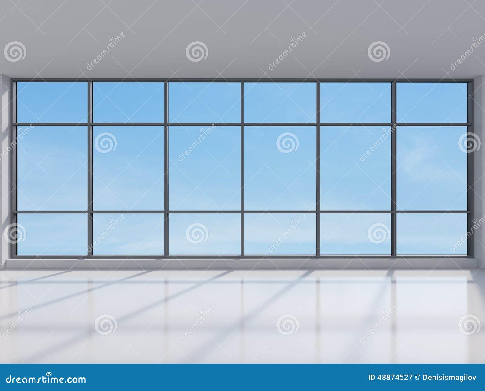 Office With Big Window Stock Photo - Image: 48874527