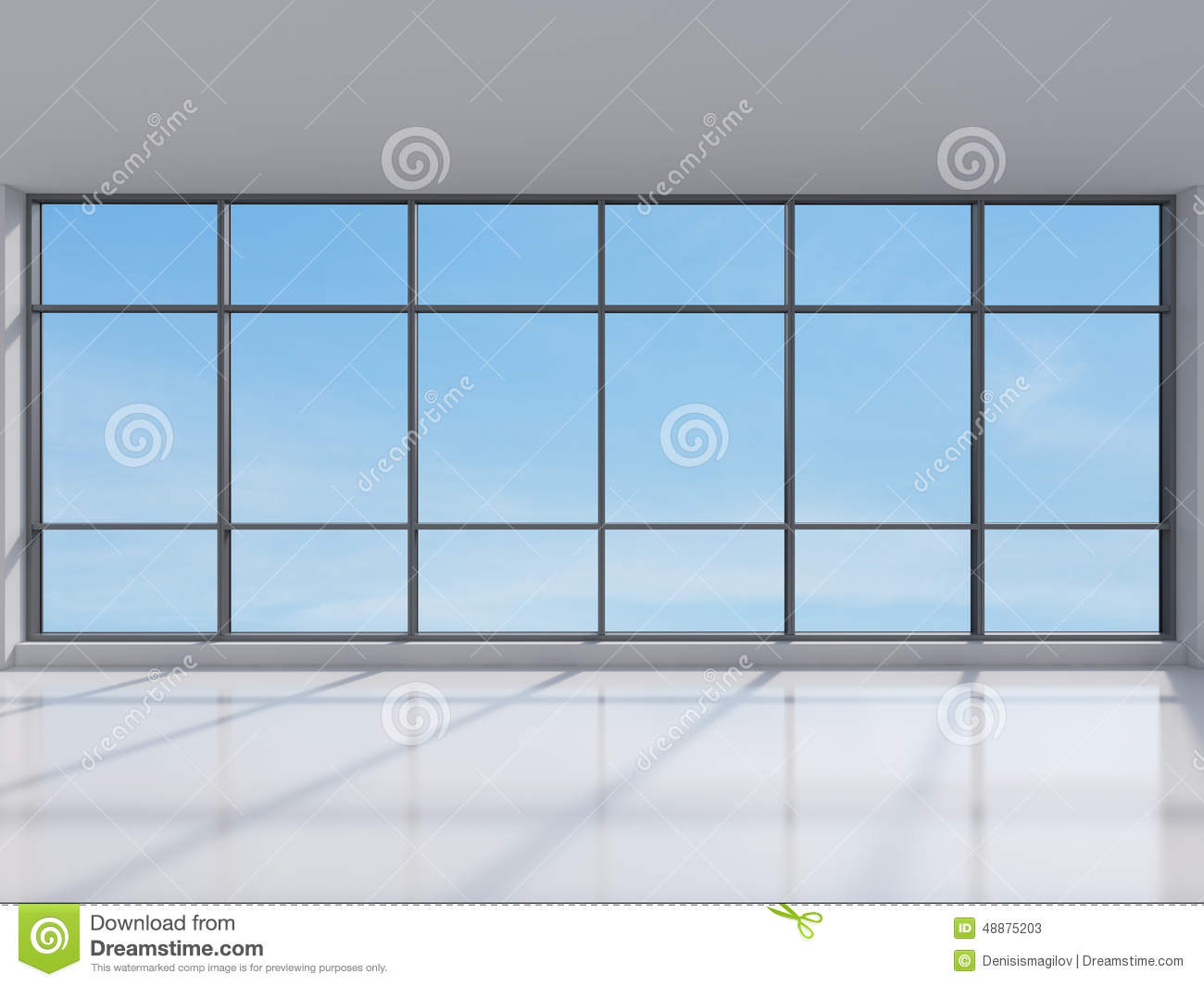 Office With Big Window Stock Image Image Of Frame Floor