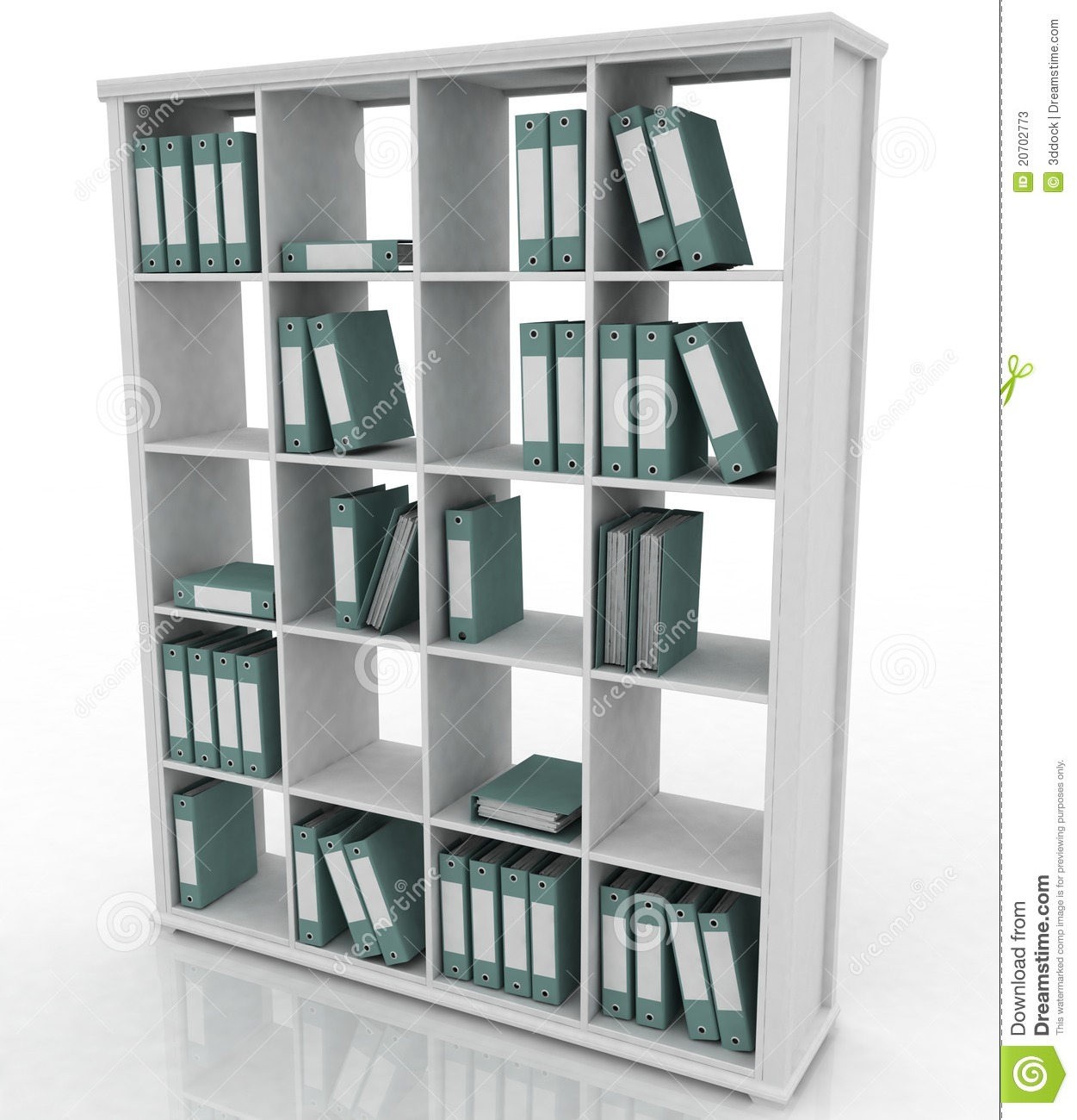 office bookshelf stock photos image 20702773