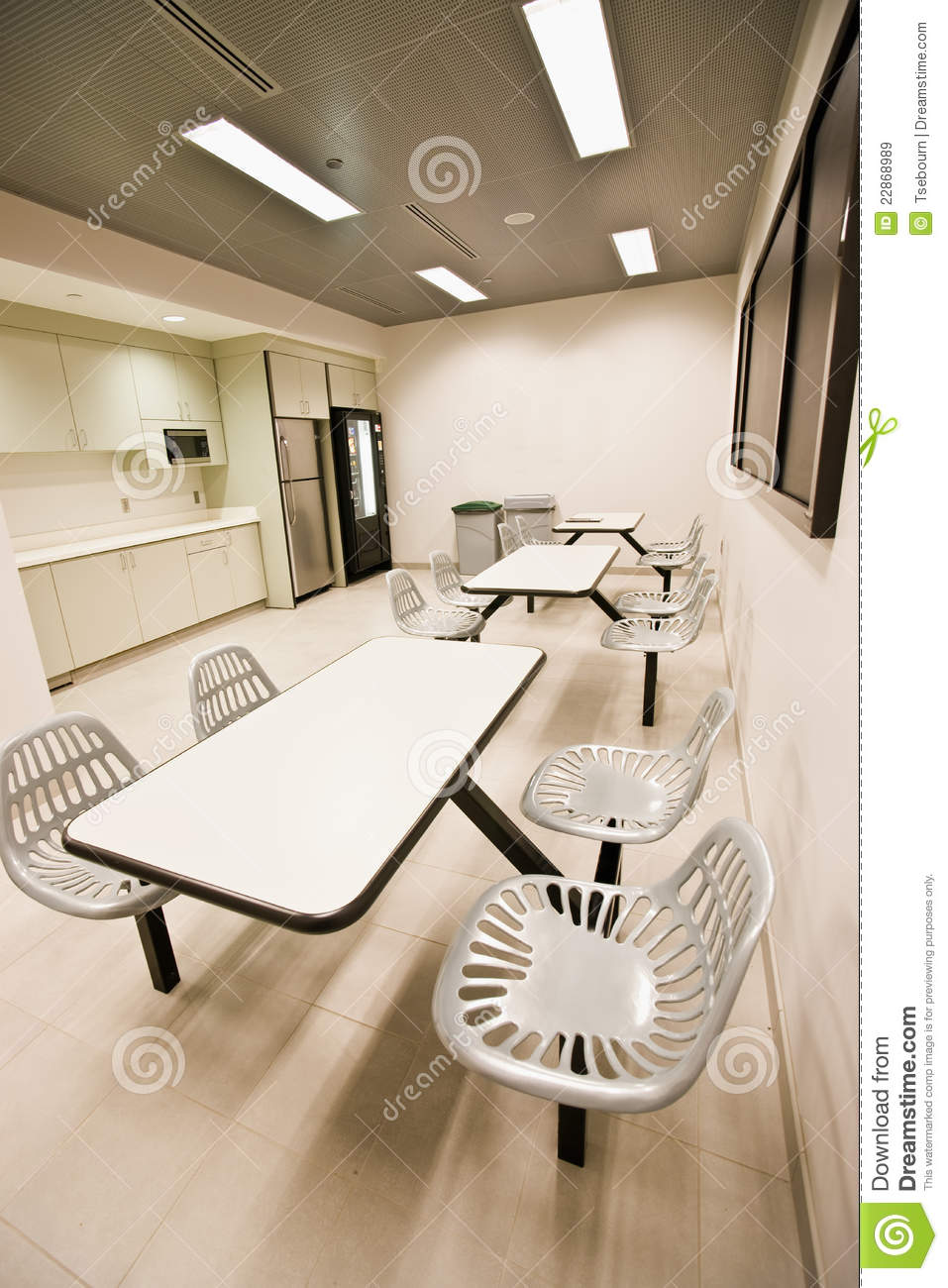 Download Office Break Room Stock Image. Image Of Office, Employee   22868989