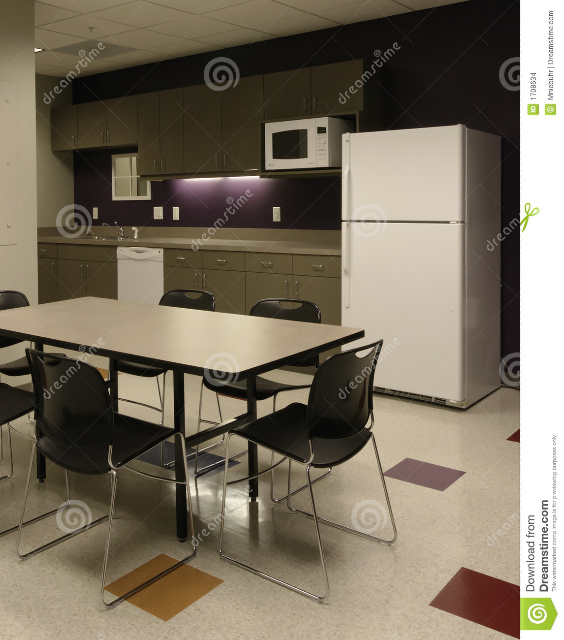 Office Break Room Cafe Employee Kitchen Space Stock Photo Image Of Fridge Carpet 1708634