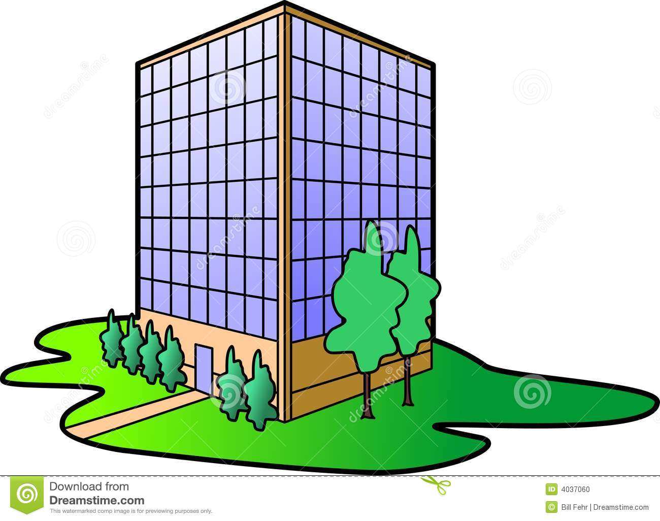 office building stock vector illustration of dwelling 4037060 rh dreamstime com buildings clipart png buildings clipart black and white