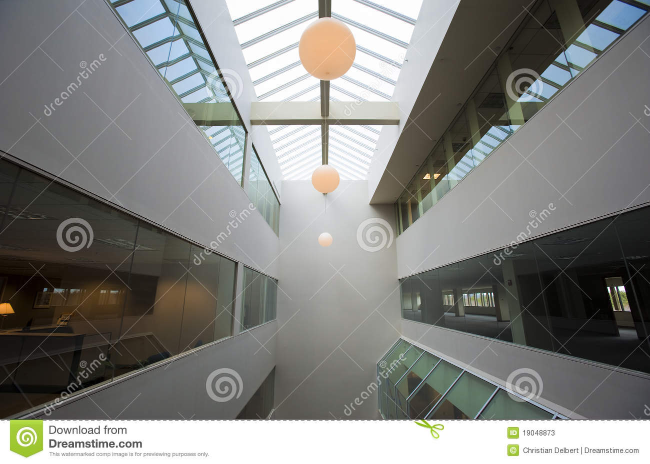 Office Building Atrium Stock Image Image Of Space