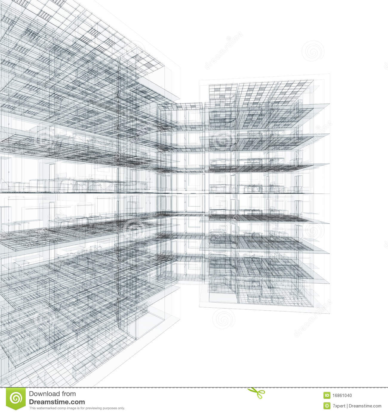 Office Building Blueprint Stock Illustration Image Of