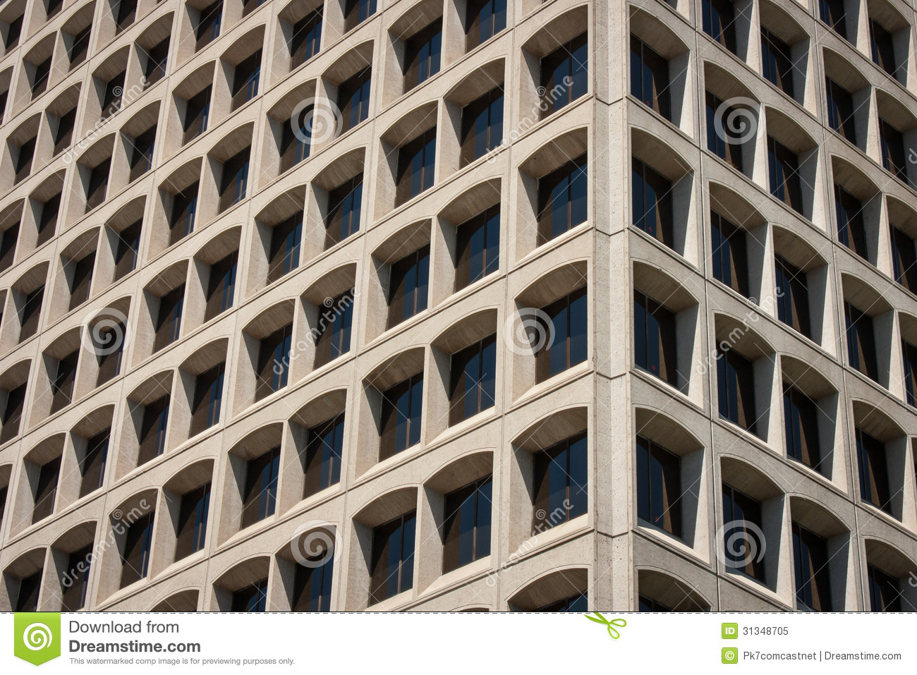 Concrete Building With Windows : Office building corner view royalty free stock photo