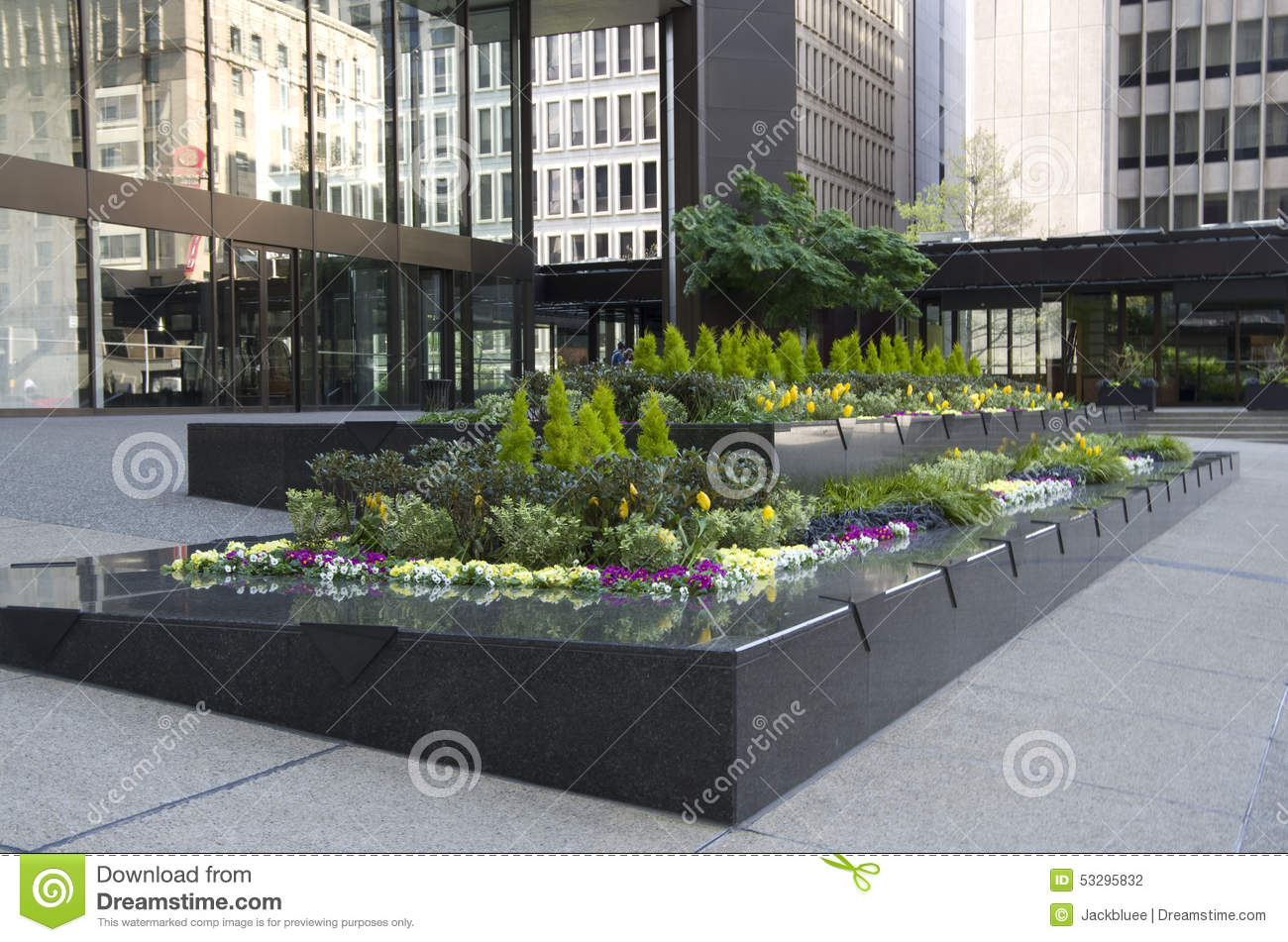 Office building front garden stock photo image 53295832 for Build an office in your garden