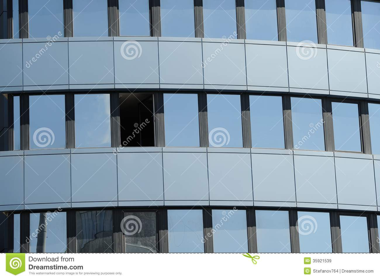 Glass Facade Of Office Building Royalty Free Stock Image: Office Building Royalty Free Stock Images