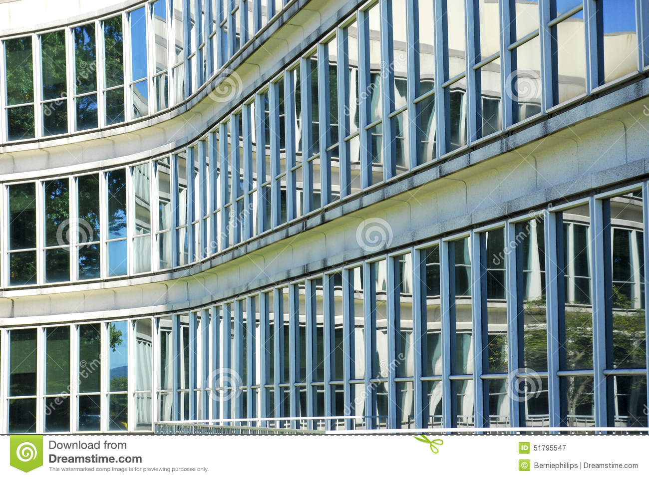 Building Glass Window : Office building glass windows stock image
