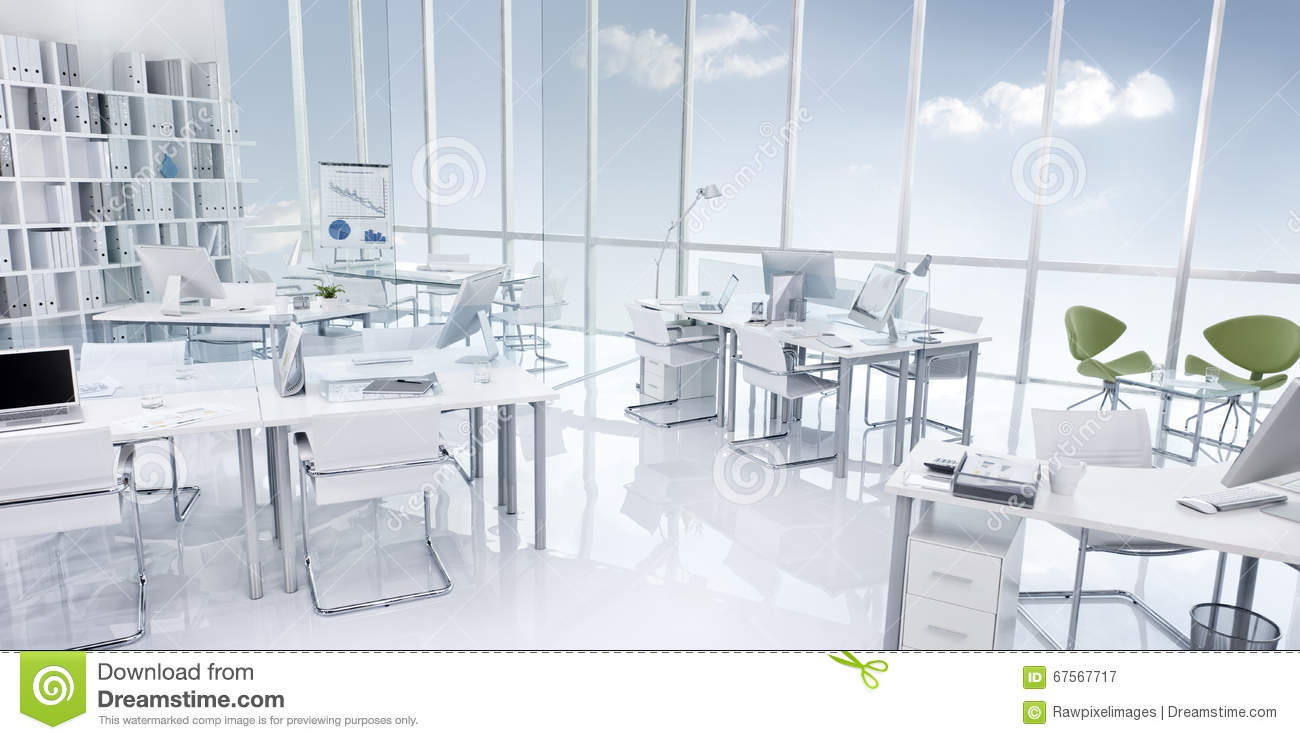 Office building interior white modern style concept stock for Modern office building design concepts