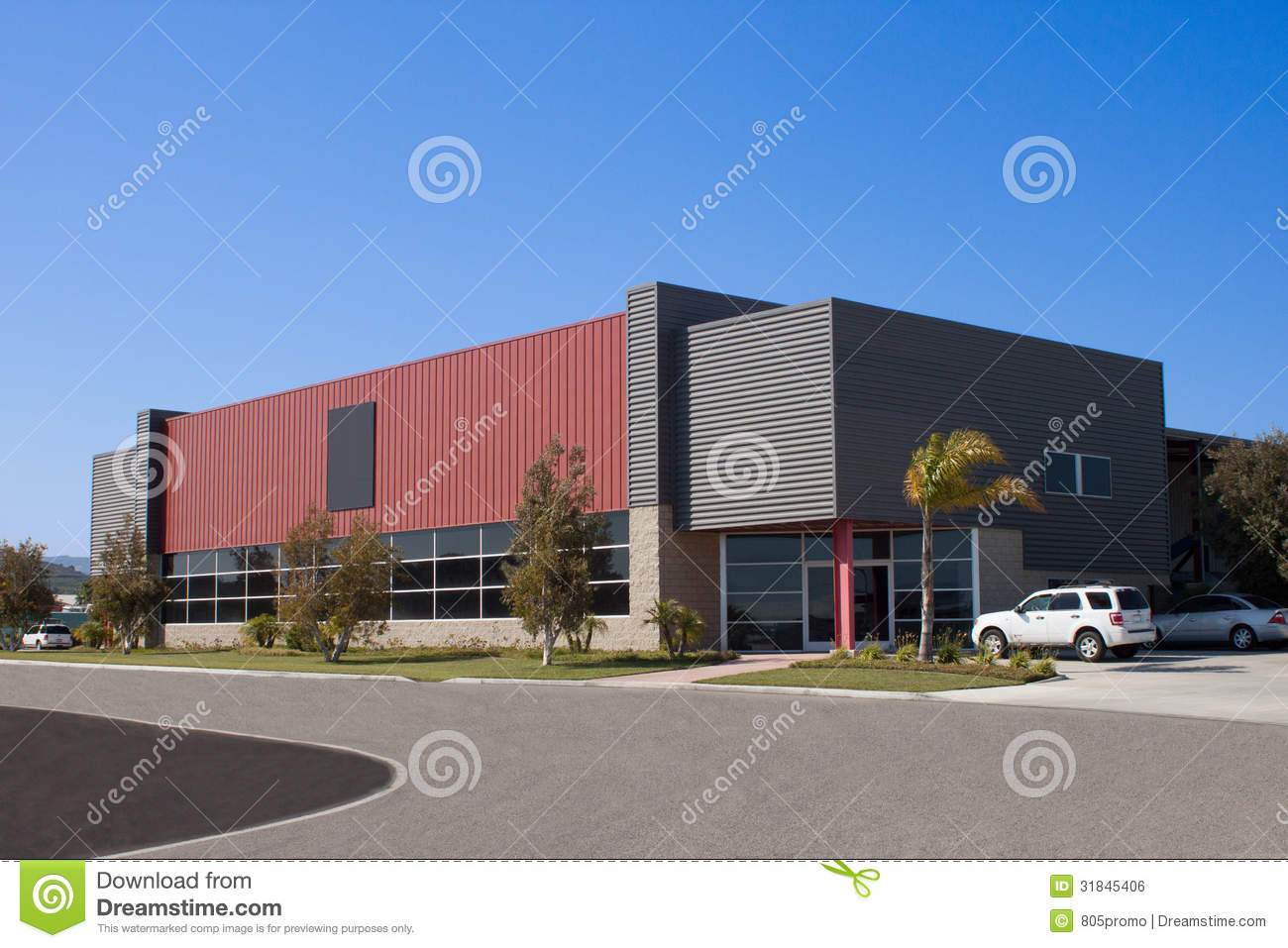 Office building stock photo image of business factory for Two story metal building