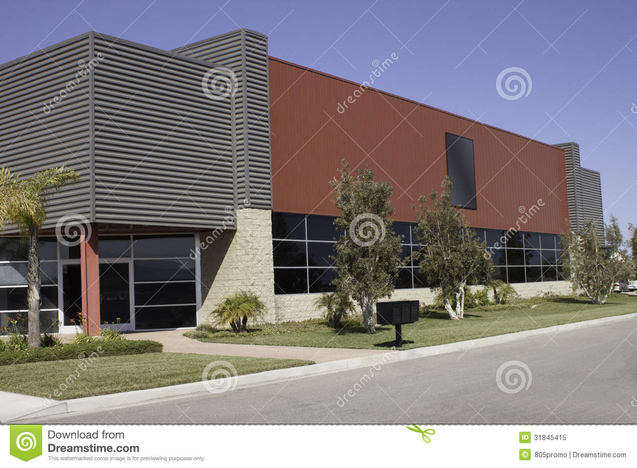 Office building stock image image of industry corporate for Two story office building plans