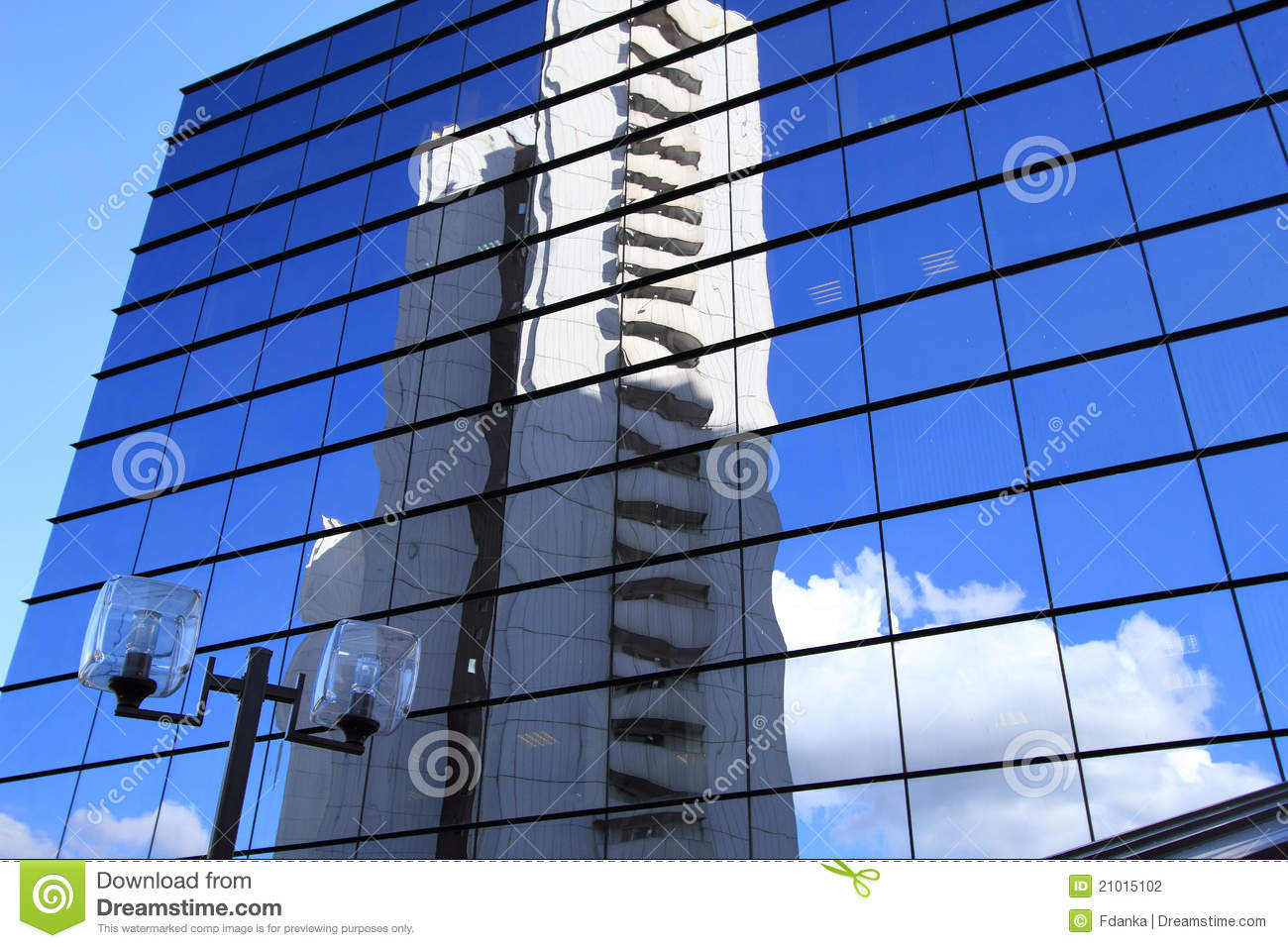 Office Building And Reflection In Its Windows Stock ...