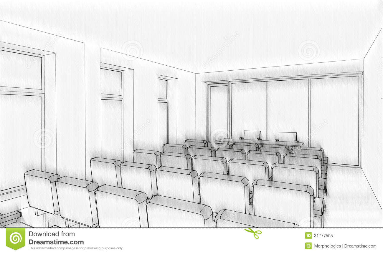 Office Building Sketch Royalty Free Stock Photo Image