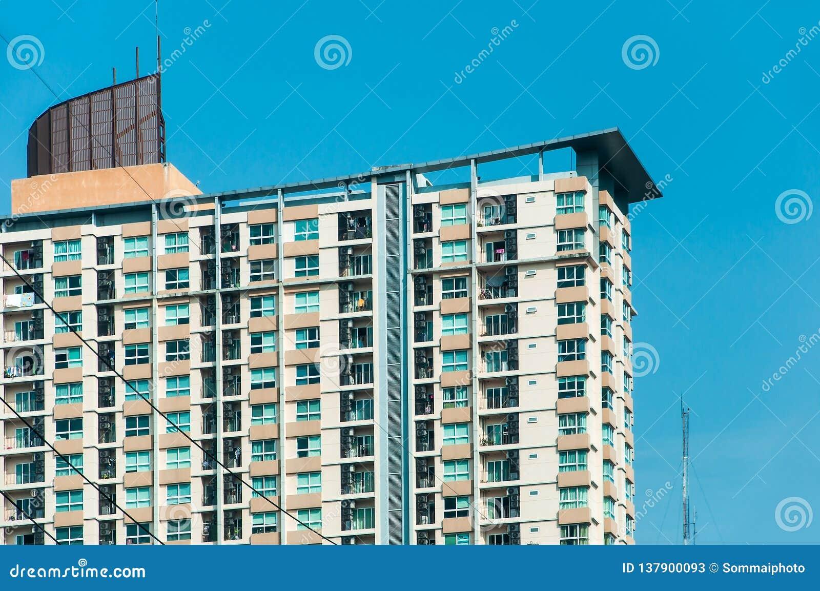 Modern residential condominium building at Ploenchit Sukhumvit road Bangkok Thailand