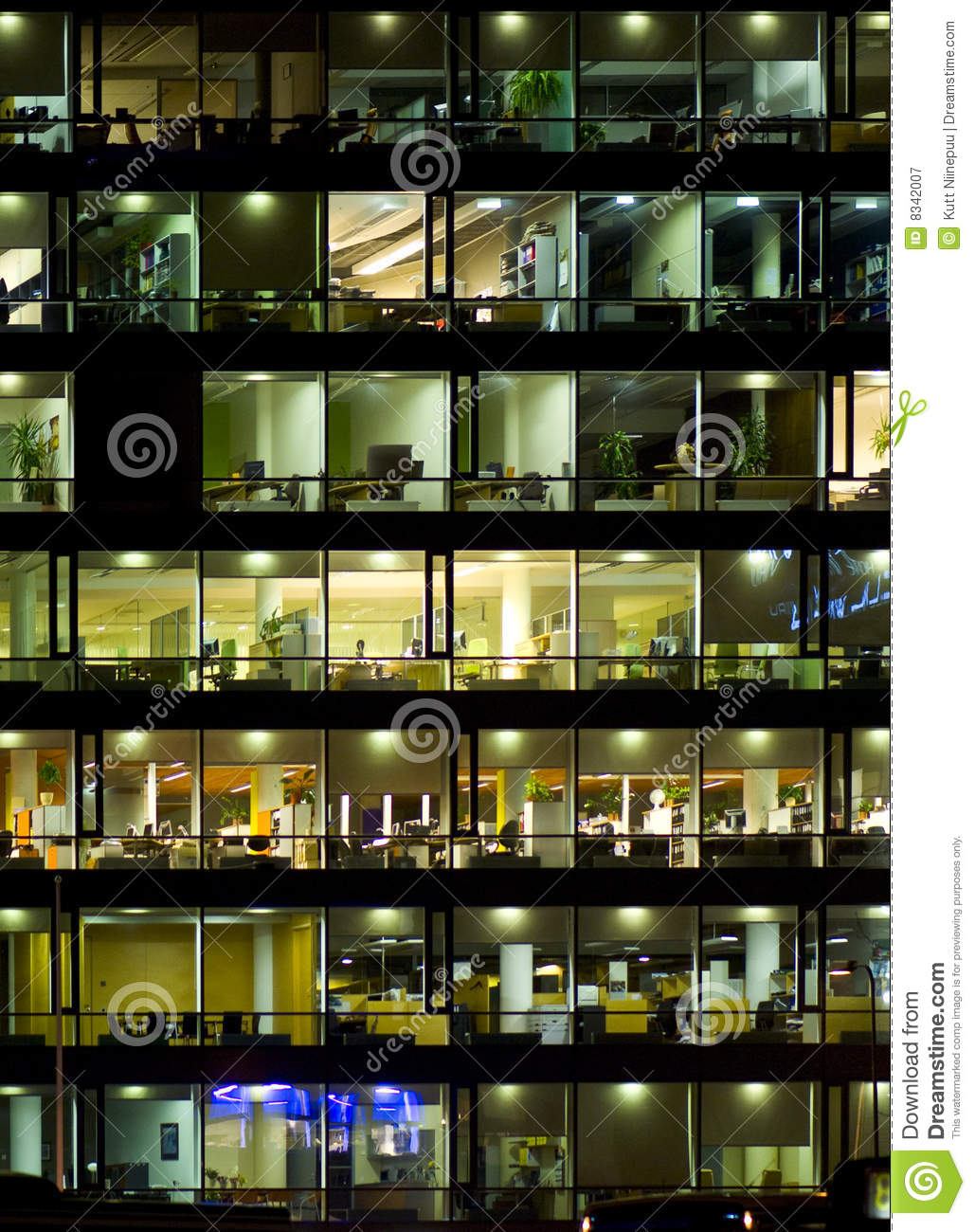 Office building windows