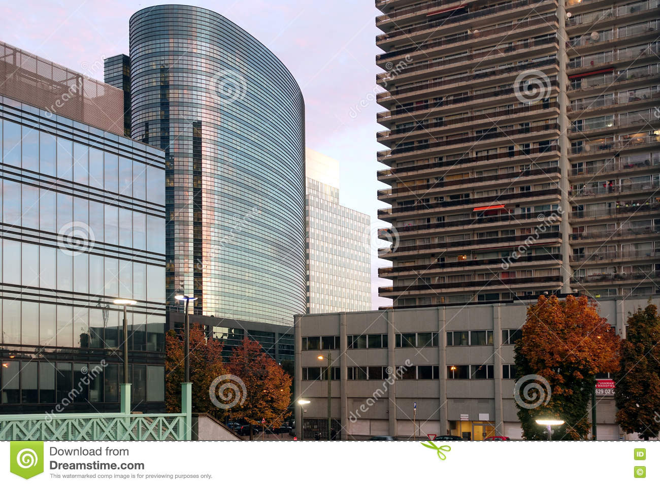 Office Buildings And Apartments, Brussels, Belgium Stock ...