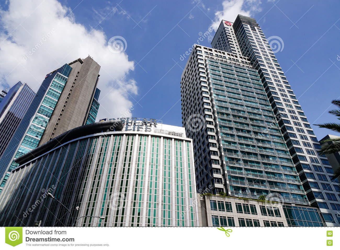 Office Buildings In Manila, Philippines Editorial Stock ...