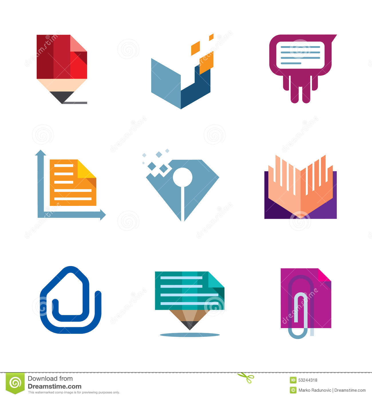 office business document symbol of entrepreneur creativity