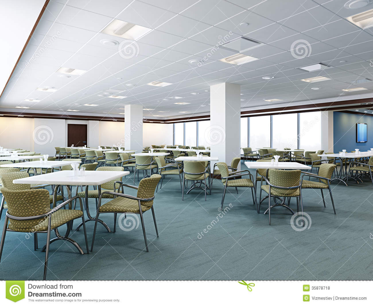 Office Cafeteria Royalty Free Stock Photos Image 35878718