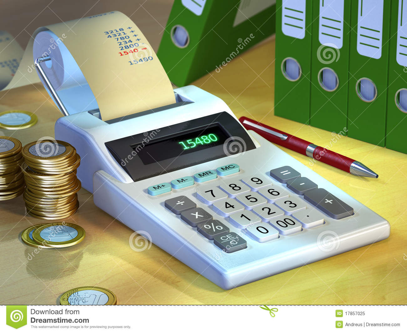 Office Calculator Royalty Free Stock Photo Image 17857025