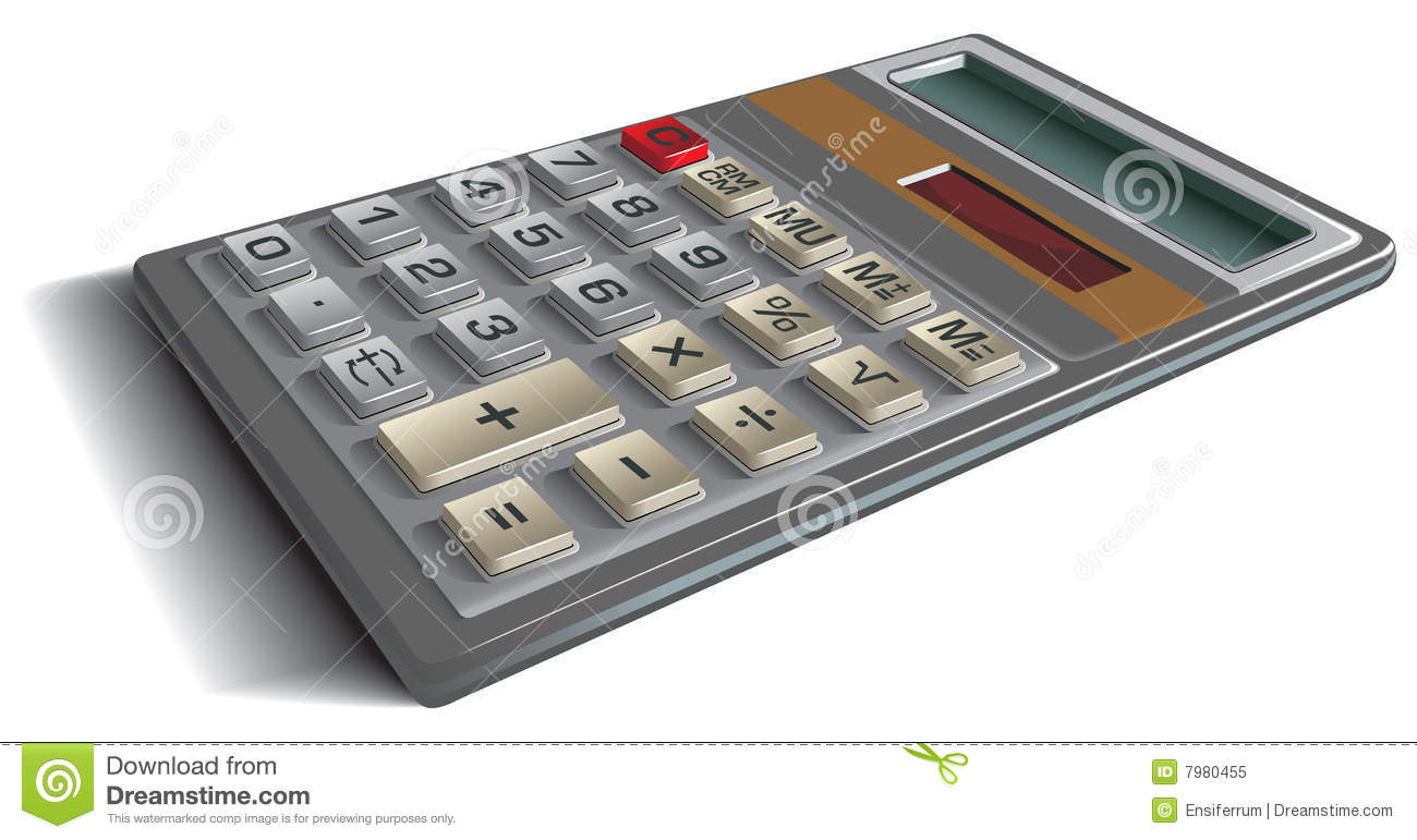 Office Calculator Royalty Free Stock Photo Image 7980455