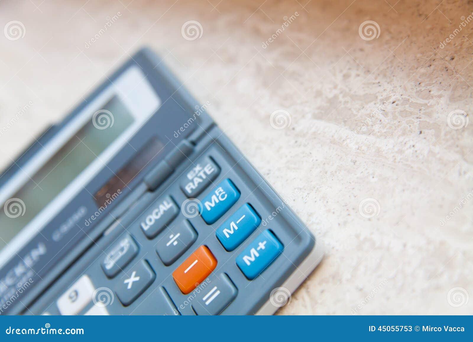 Office Calculator Stock Photo Image 45055753
