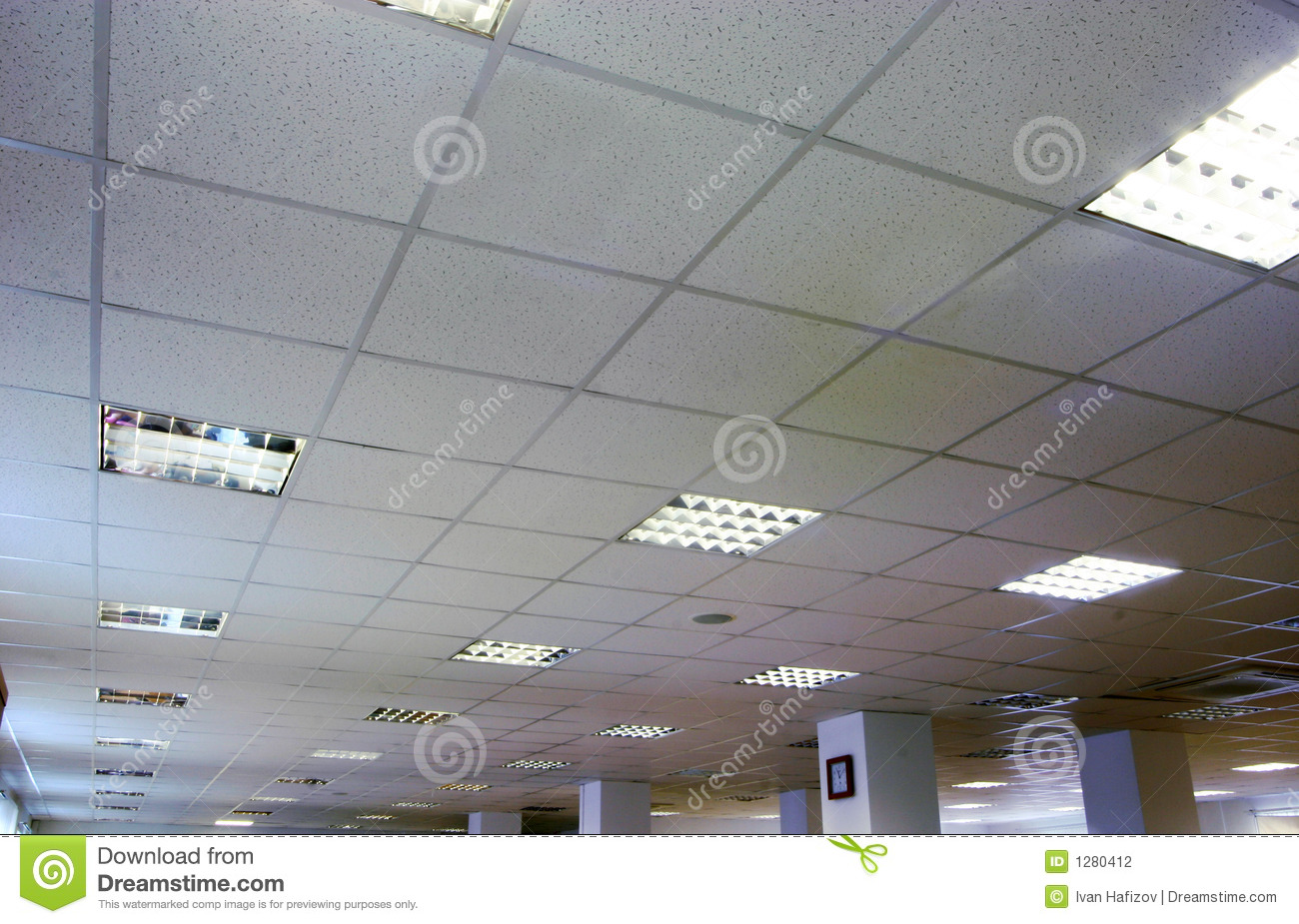 An office ceiling stock photography image 1280412 for Office ventilation design