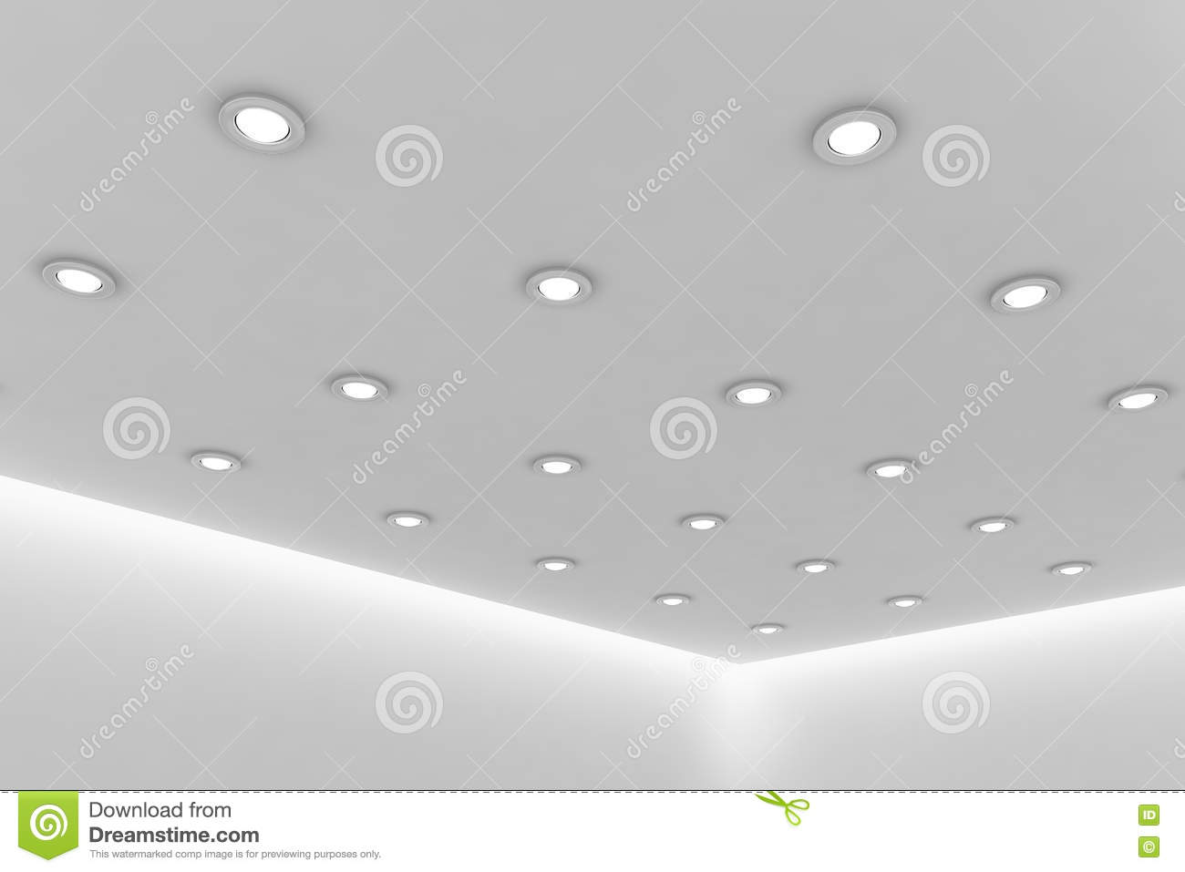 office ceiling lamps office ceiling of empty white room with round ceiling lamps royalty free stock architecture ideas lobby office smlfimage