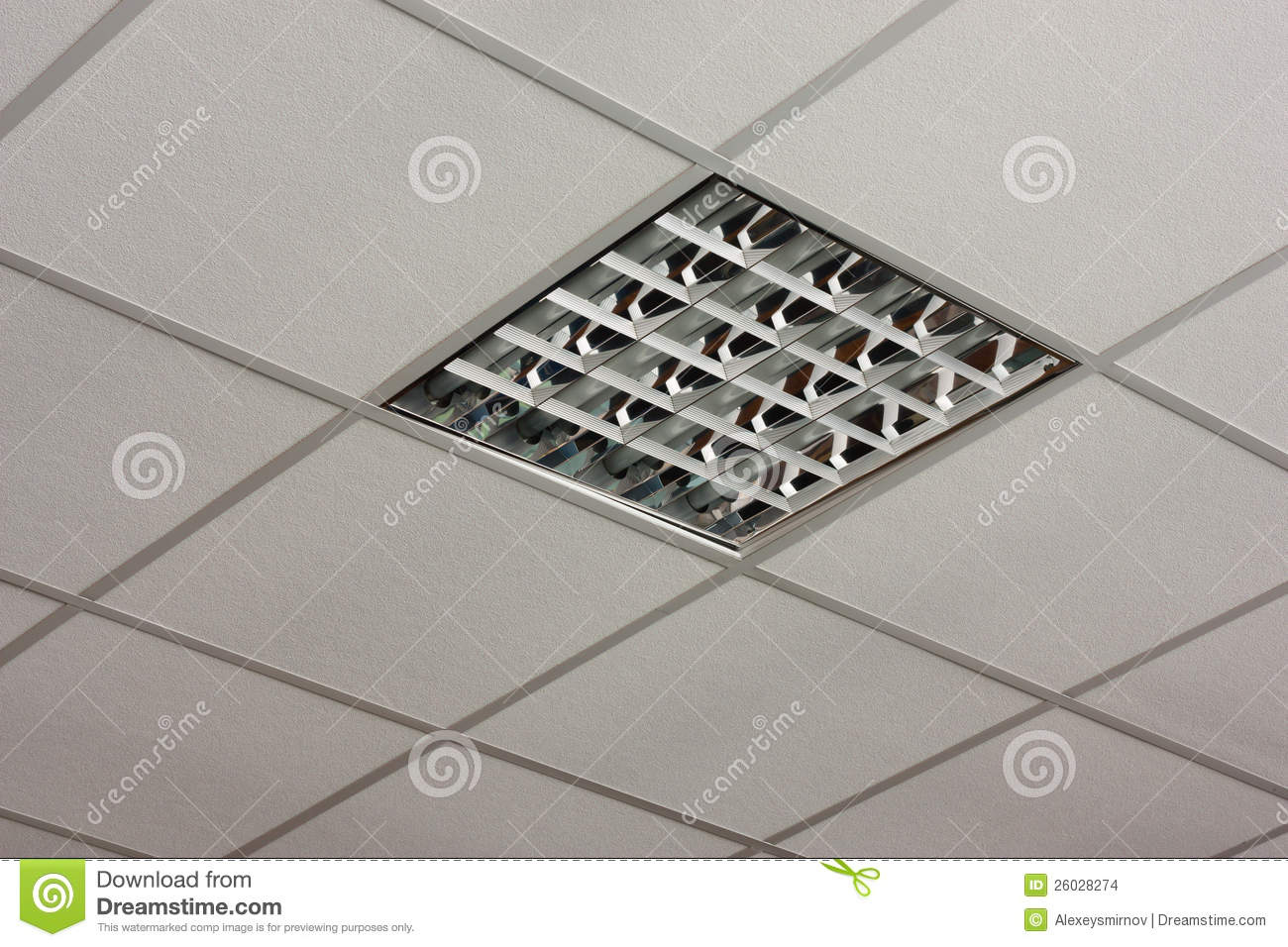 Office Ceiling Lamp Close Up View