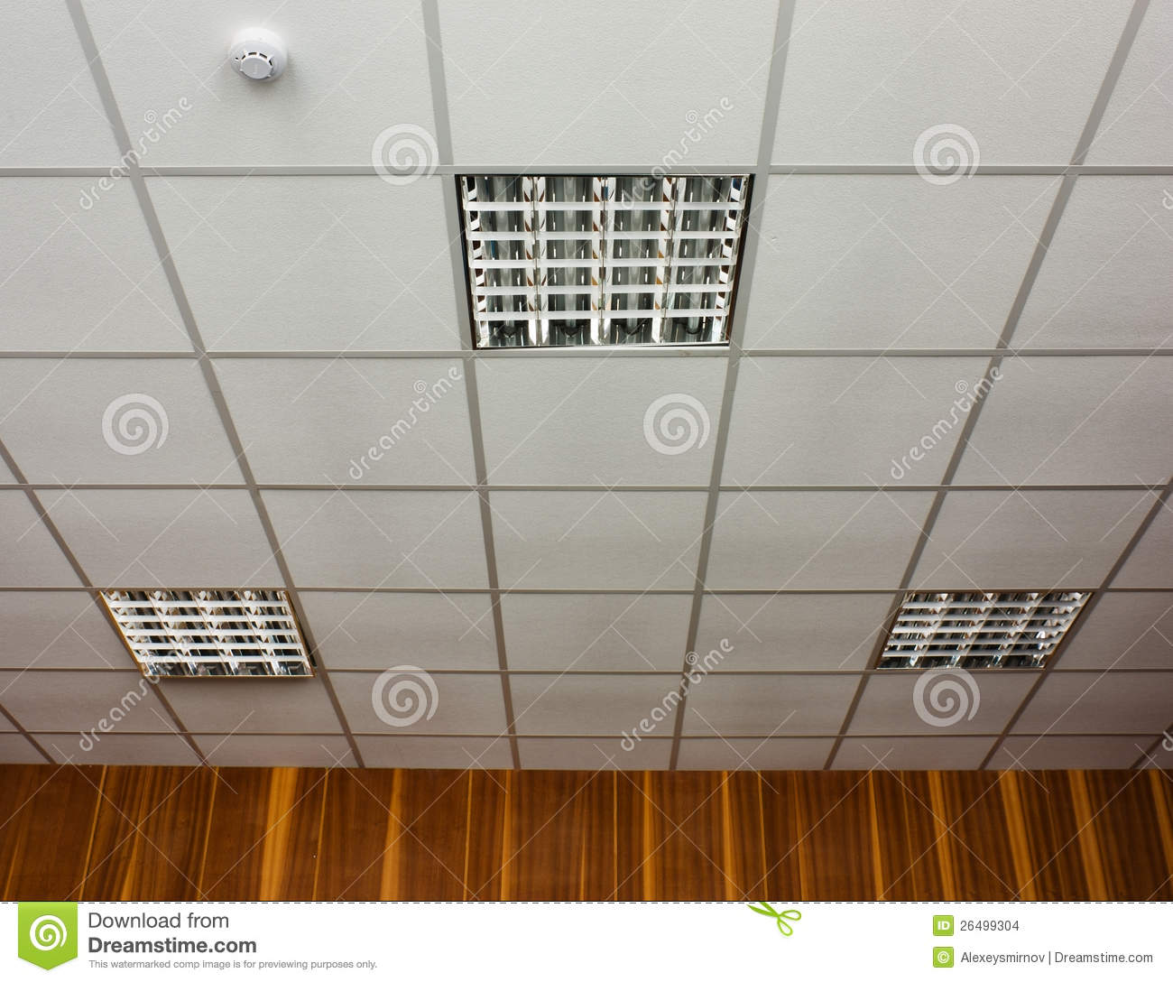 Ceiling Lamp Office: Office Ceiling With Lamps Stock Photo. Image Of Built