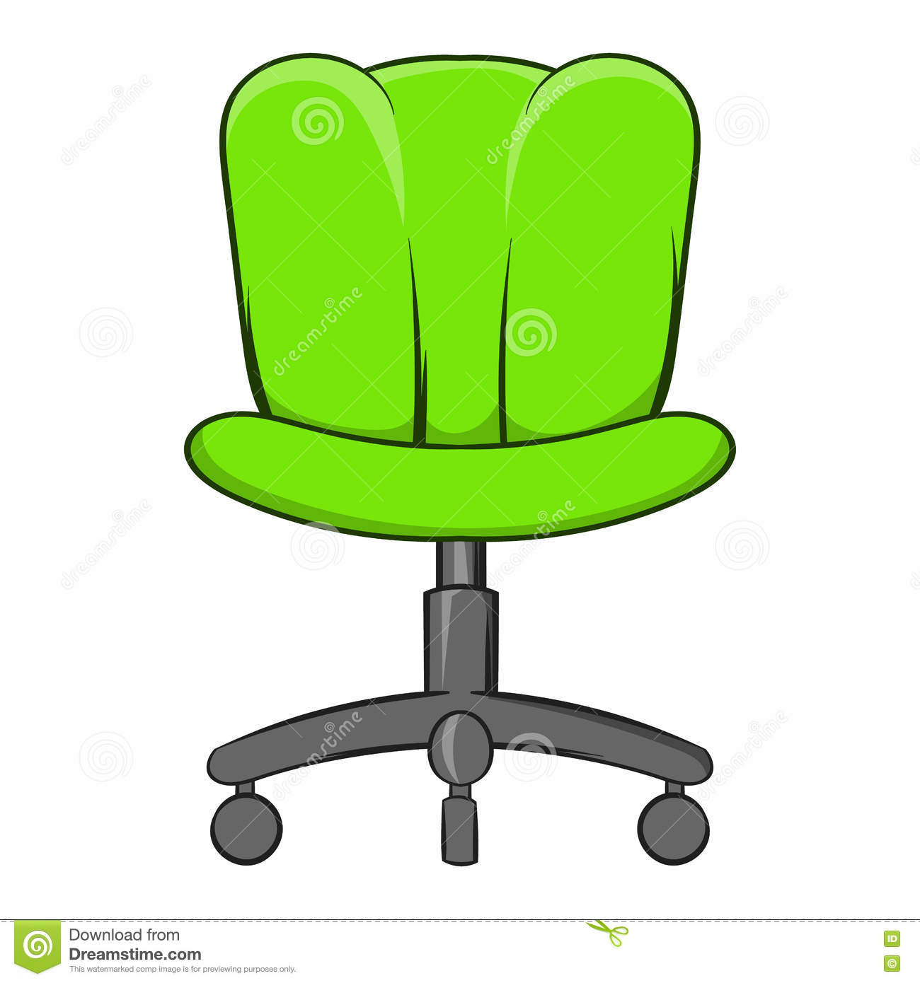 Office Chair Icon Cartoon Style on Best Executive Office Furniture
