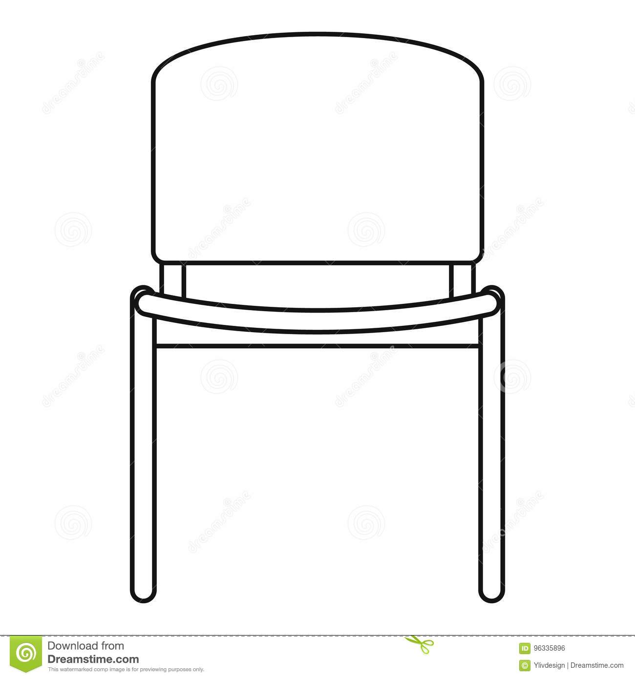 Office Chair Icon Outline Style Stock Vector