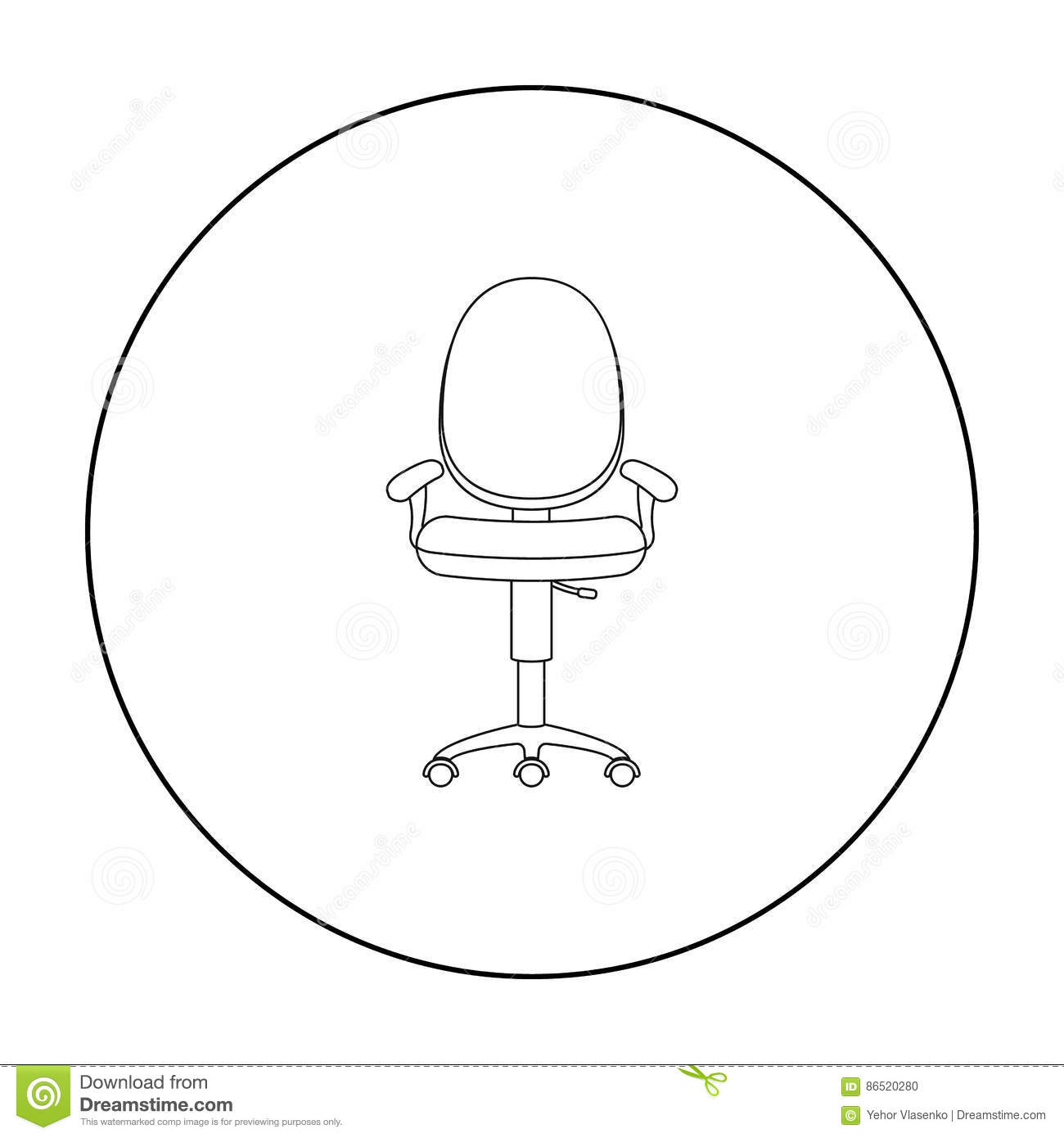 Background Chair Furniture Icon Illustration Interior Isolated Office