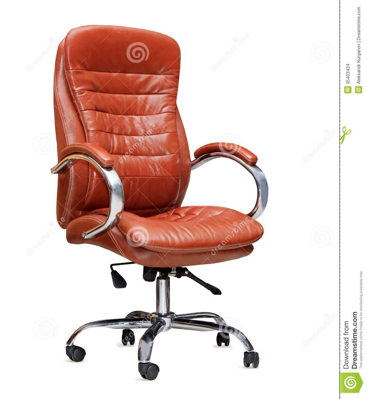 Attirant Download The Office Chair From Orange Leather. Isolated Stock Photo   Image  Of Executive,