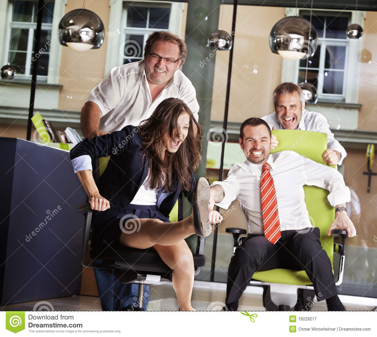 Download comp  sc 1 st  Dreamstime.com & Office chair race at work. stock image. Image of employees - 19229217