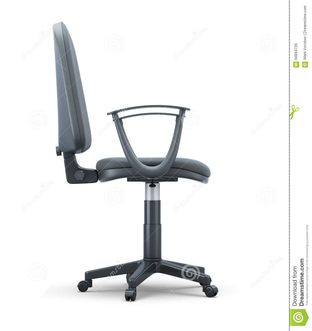 Office Chair Side View On A White Stock Illustration - Illustration ... for office chair vector side view  55dqh