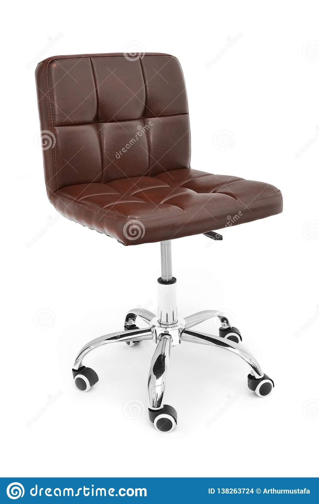 Office Chair Simple Design. Modern Brown Leather Chair For ...