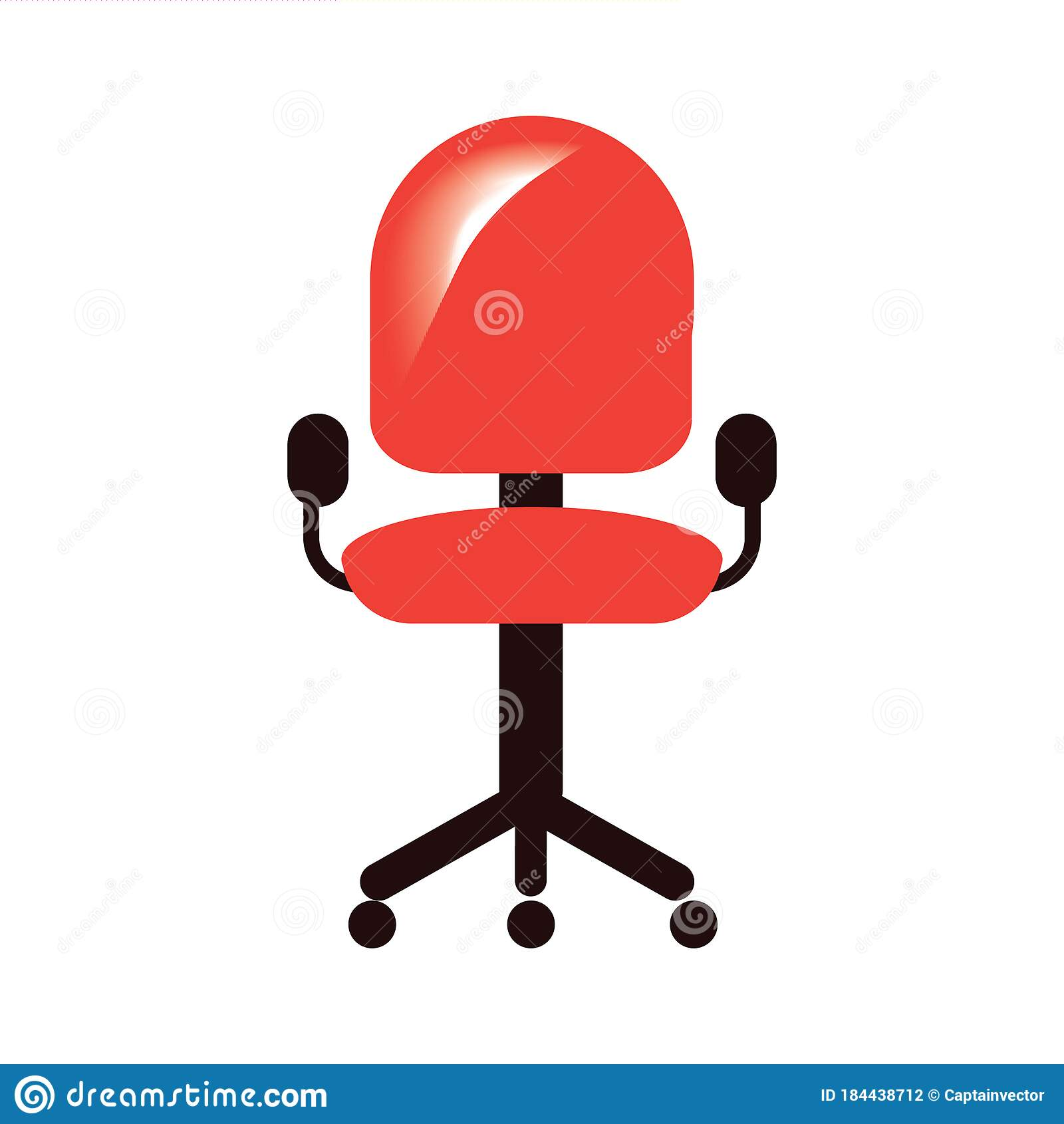Office Chair Vector Illustration Decorative Background Design Stock Illustration Illustration Of Corporates Chairs 184438712