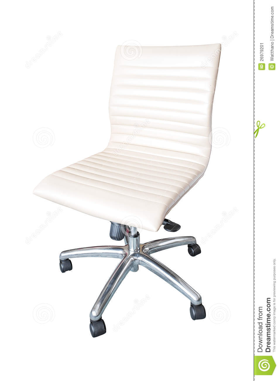 office chair white leather. background chair isolated leather office white