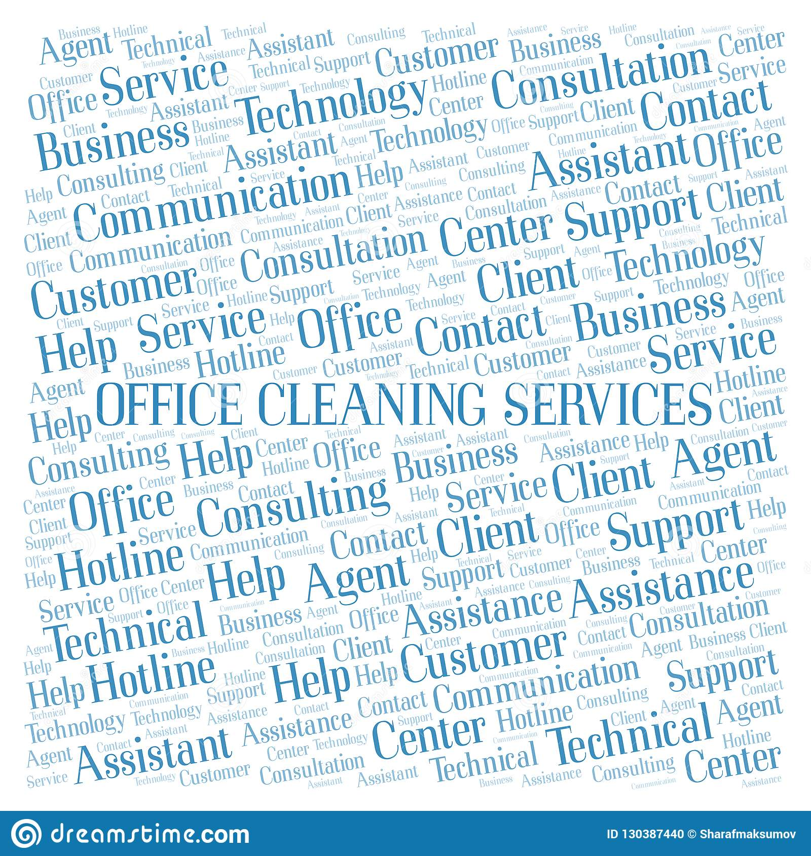 Office Cleaning Services word cloud.