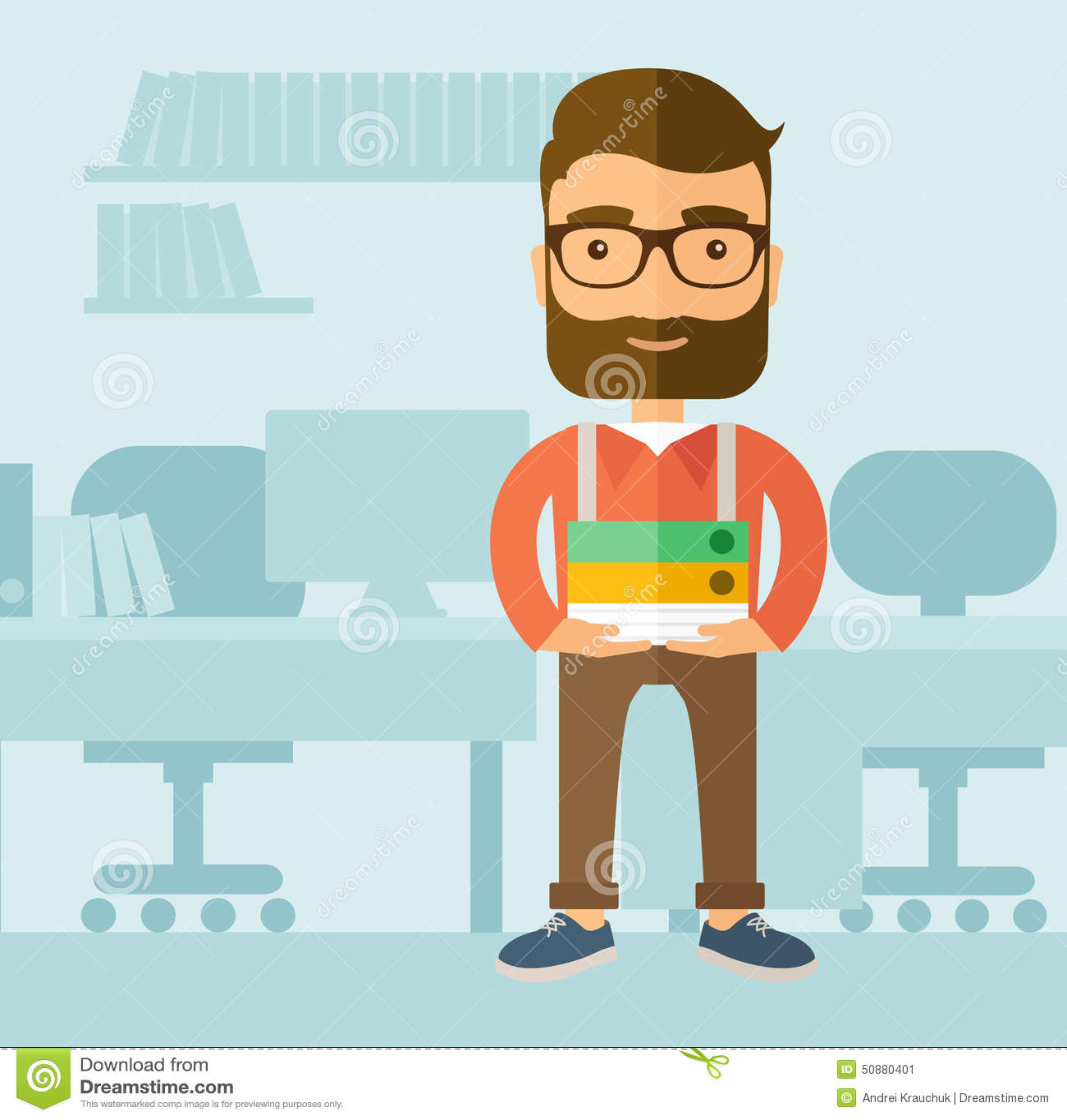 office clerk stock vector image  office clerk
