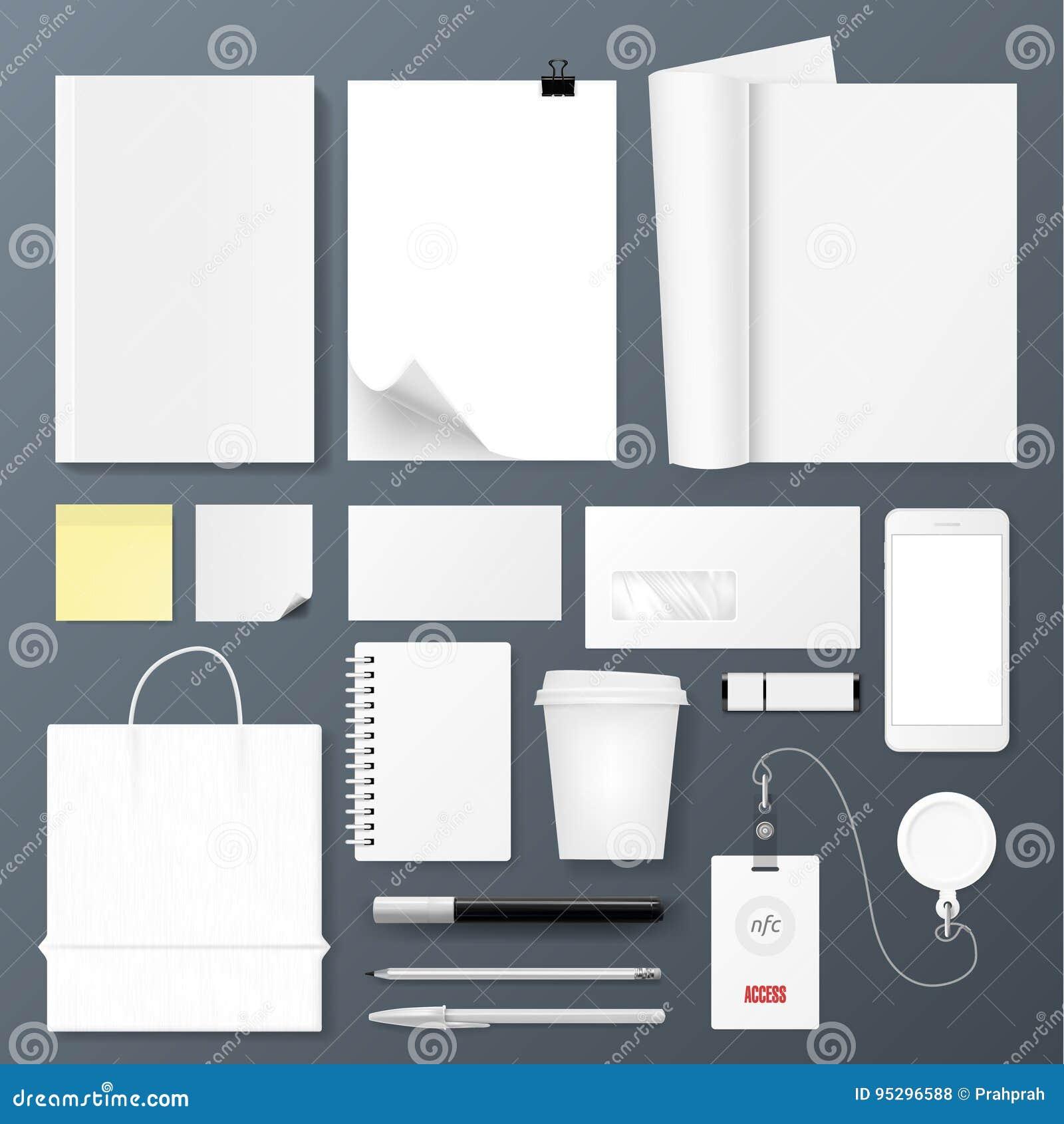 Office Corporate Identity Template Set. Design For Branding