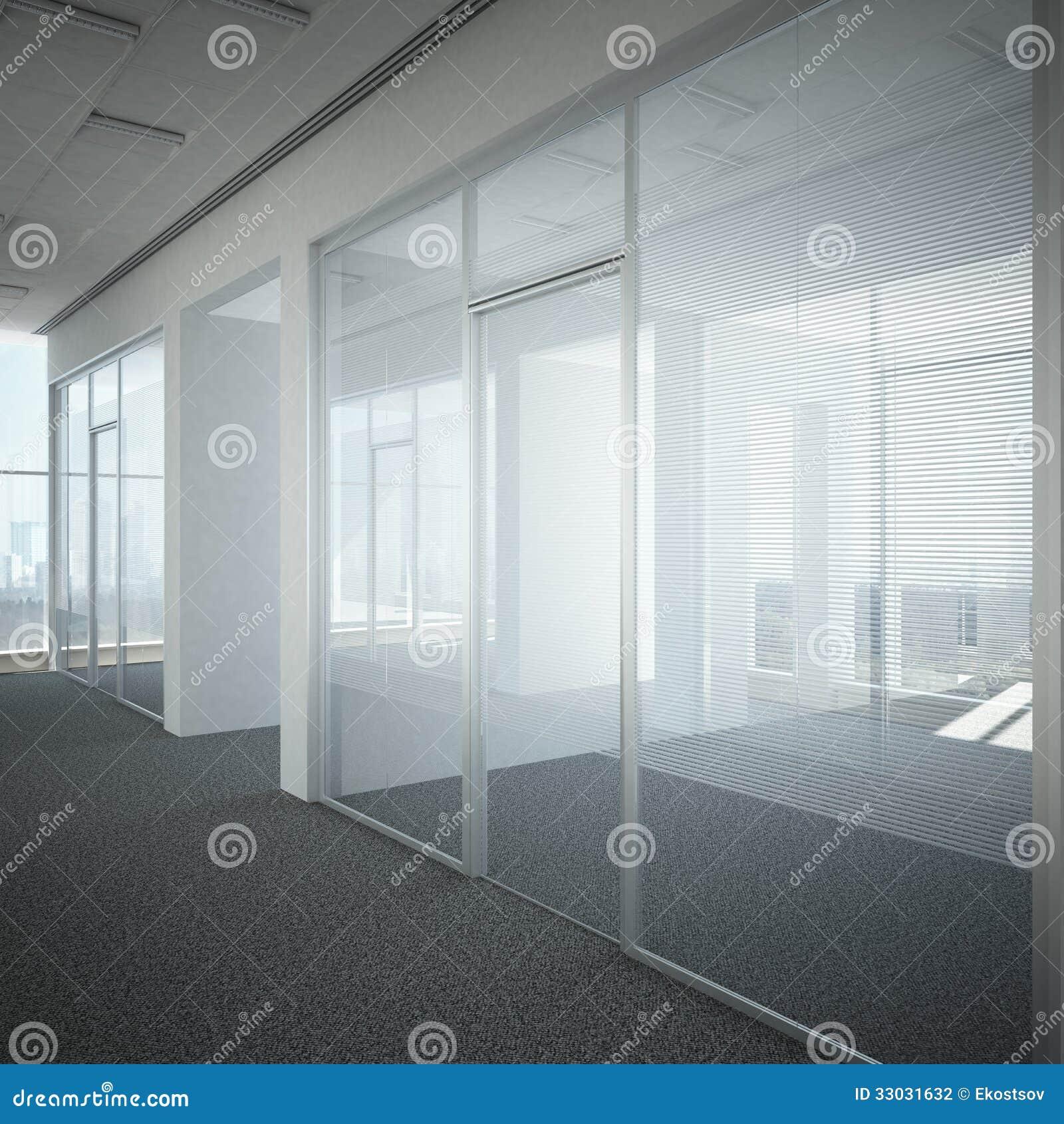 Office corridor door glass stock photography image 33031632 for Bureau en verre