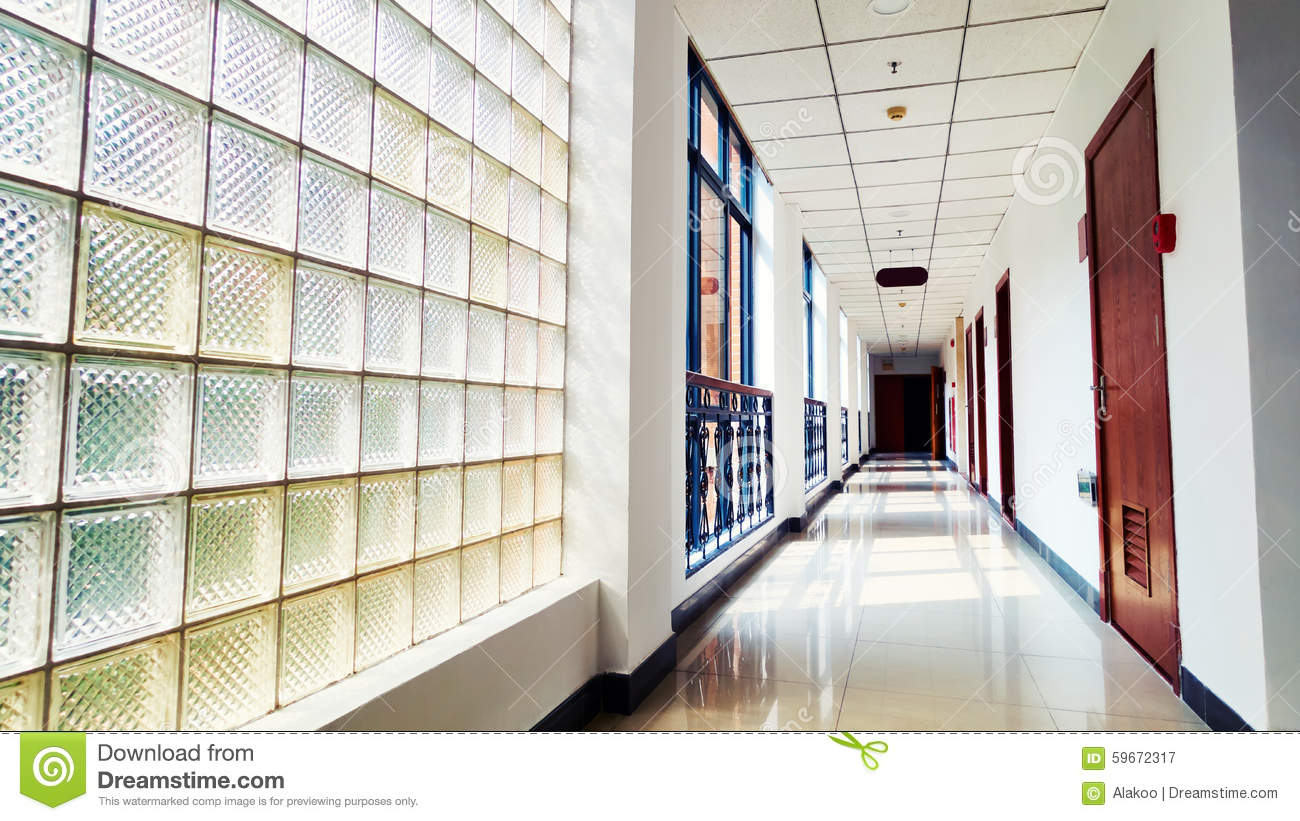 Office corridor stock photo image 59672317 for Modern office building interior