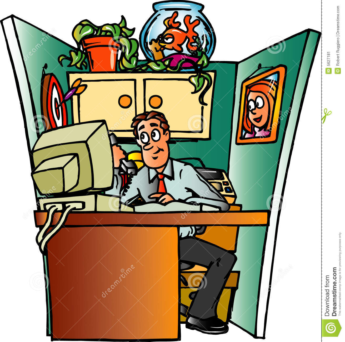 Office Cubical Stock Image - Image: 5627181