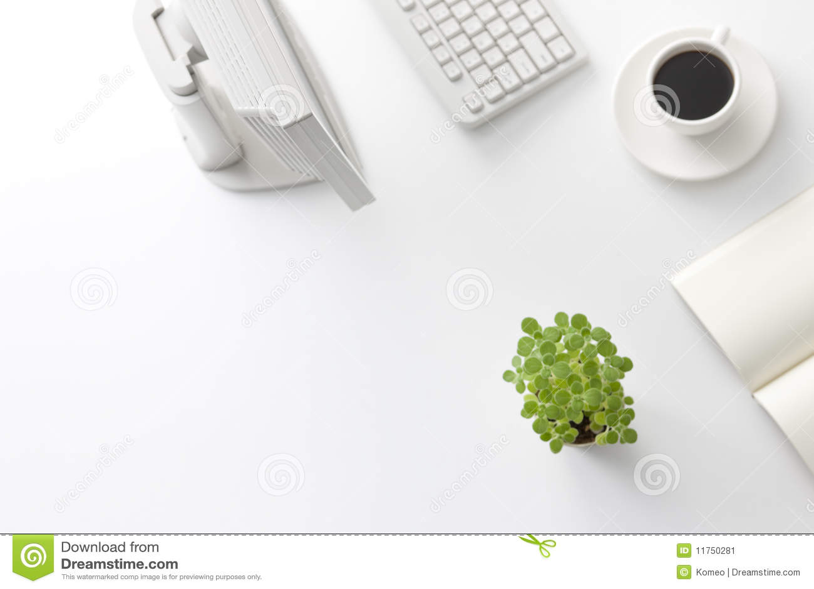 office desk stock image image 11750281