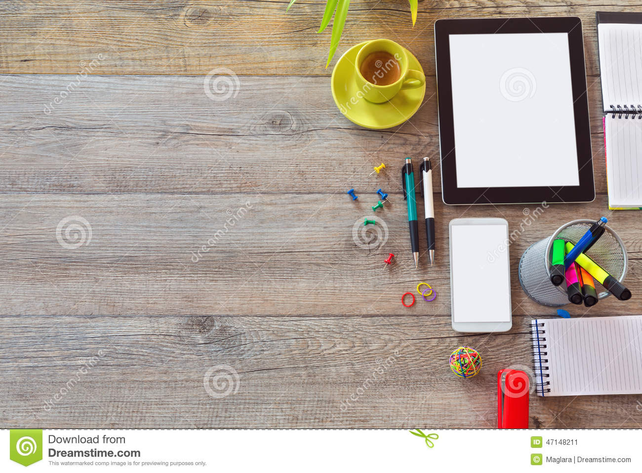 Office desk background with School Desk Background