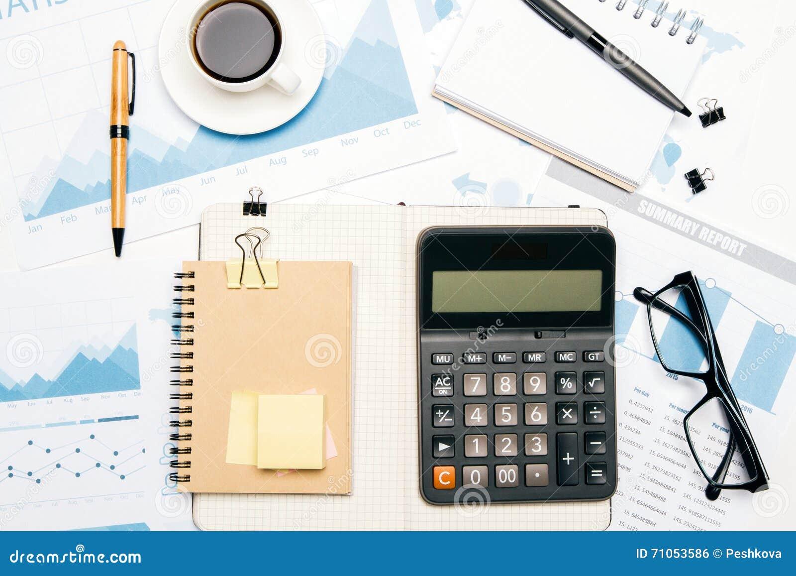 Office Calculator Stock Image 34470733