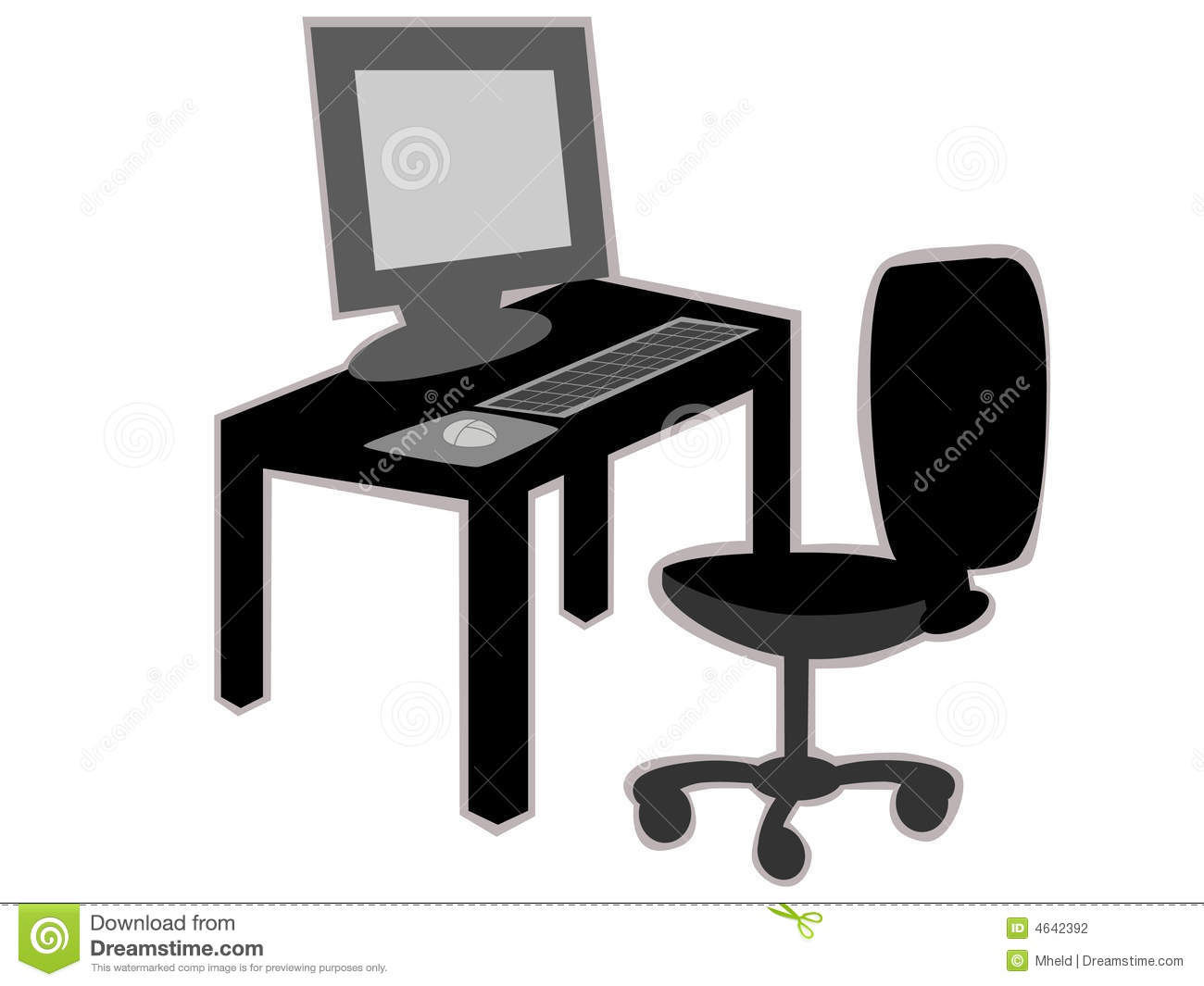 Black and white chair photography - Office Desk With Chair
