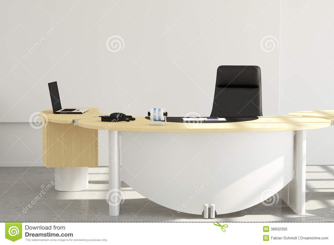 Office Desk Close Up Stock Illustration Image 38932300